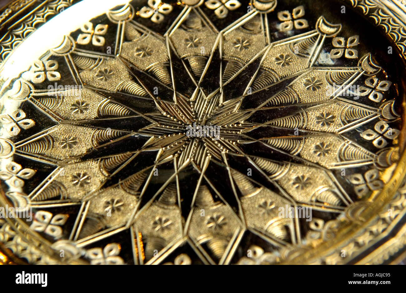 Gold decorative plate & Gold decorative plate Stock Photo: 2632852 - Alamy