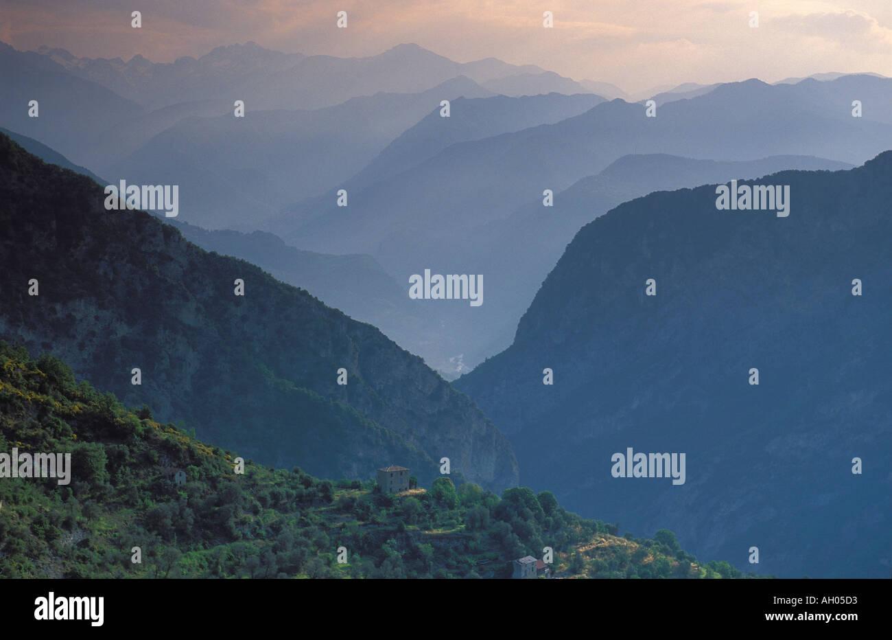 Vallee de Vesubie, Alpes Maritimes, Provence, France - Stock Image