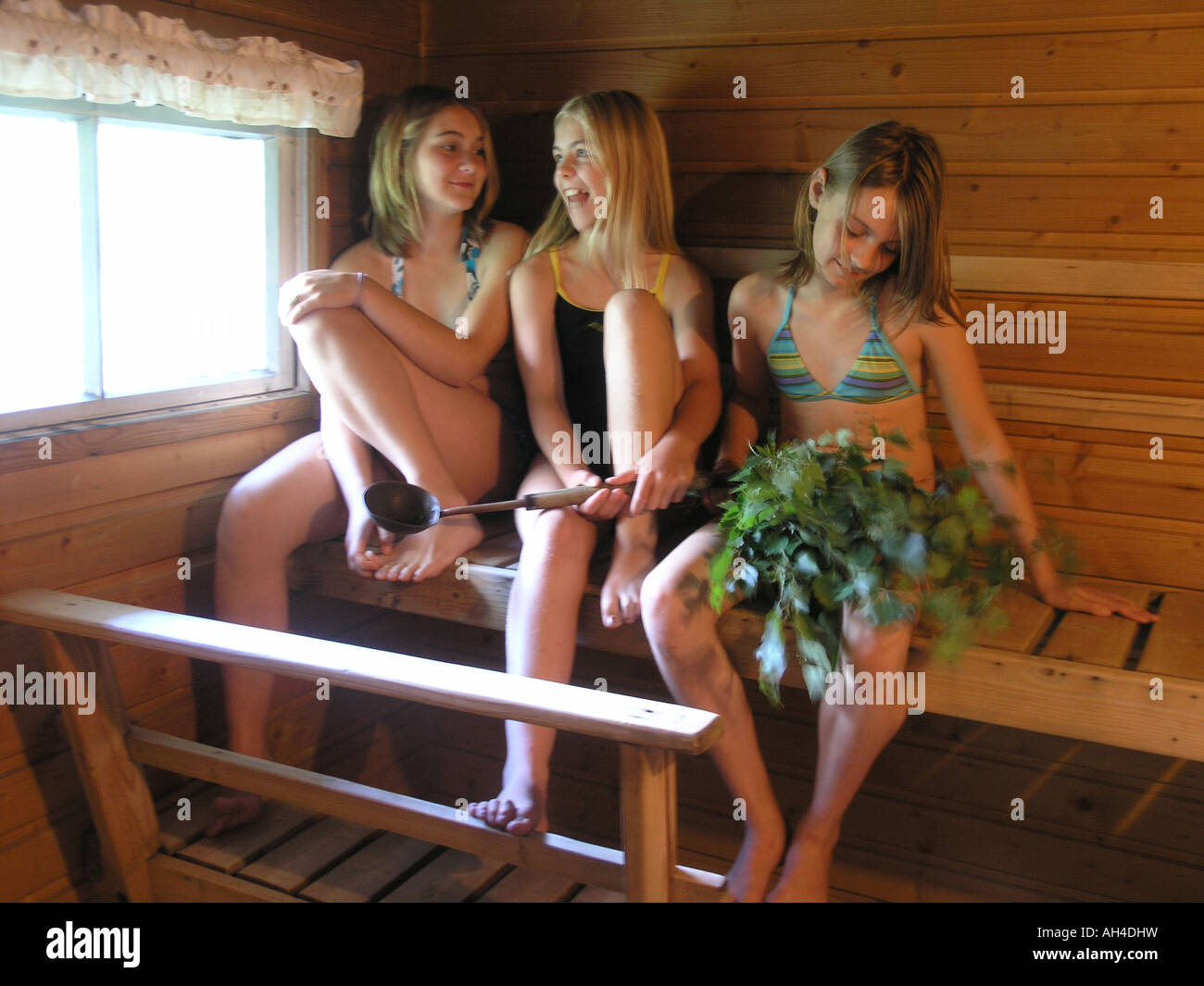teen Russian girls sauna