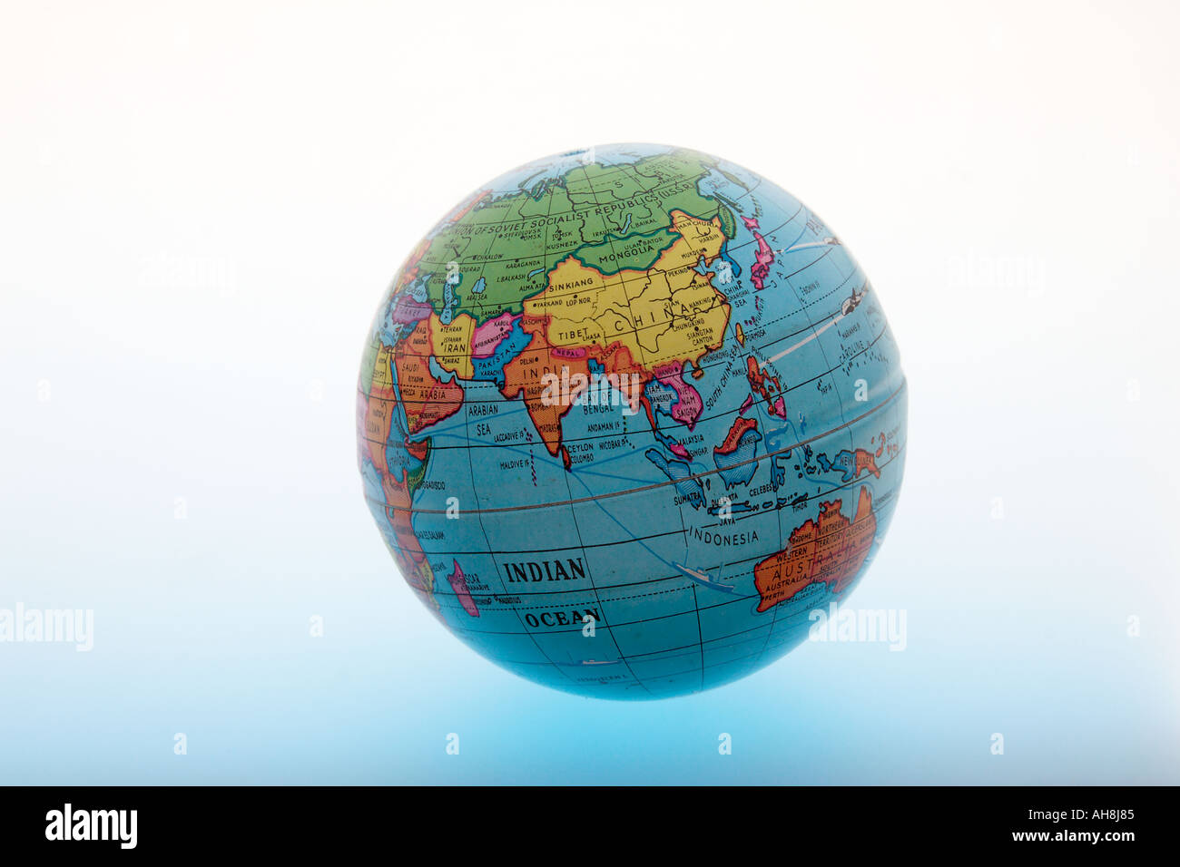 Round globe of world showing asia indian ocean india china sri lanka round globe of world showing asia indian ocean india china sri lanka pakistan indonesia malaysia bangladesh saudi arabia iraq gumiabroncs Images