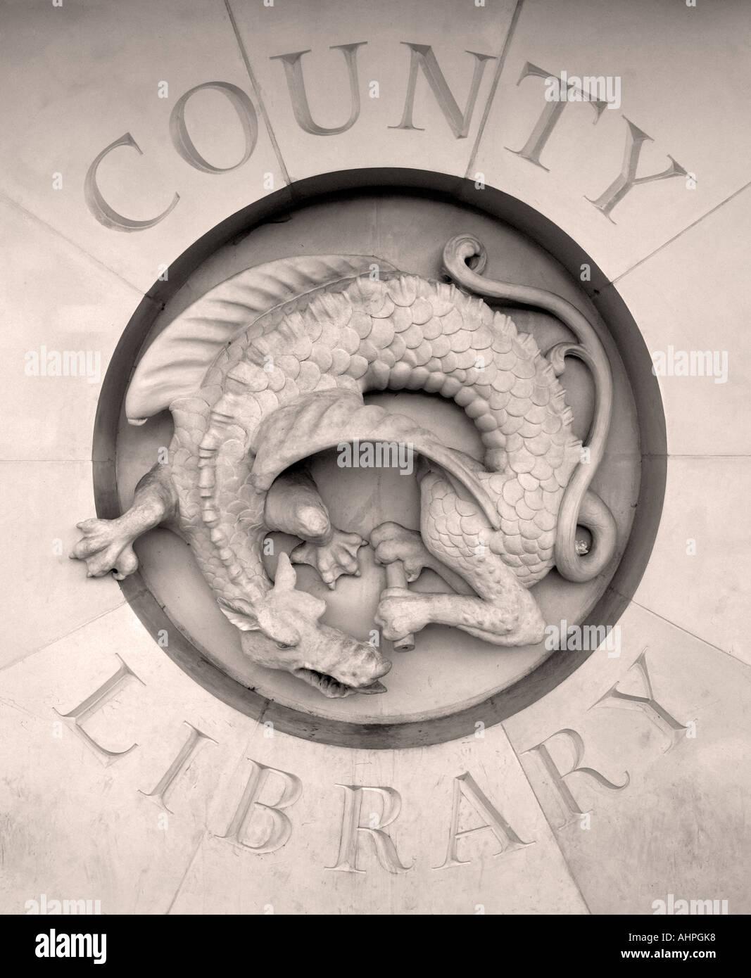 County Library, Taunton, Somerset, England - Stock Image