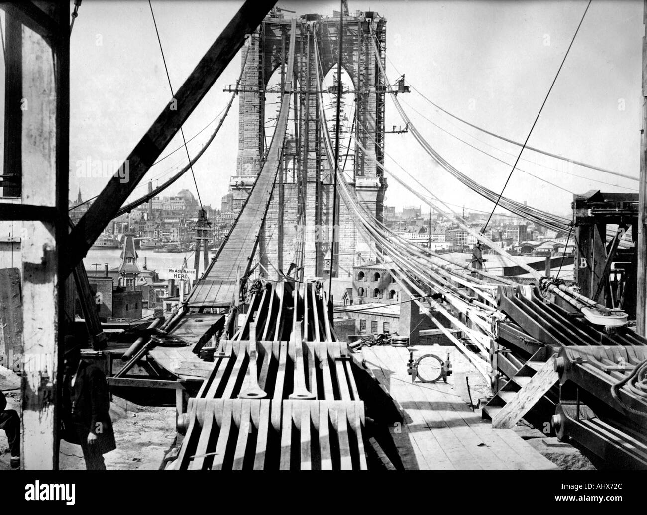 brooklyn bridge construction stock photos amp brooklyn