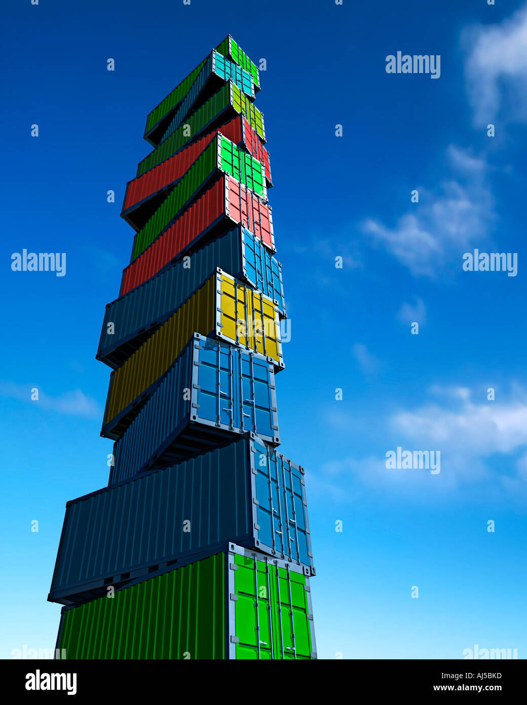 container  sea see cargo transport trade - Stock Image