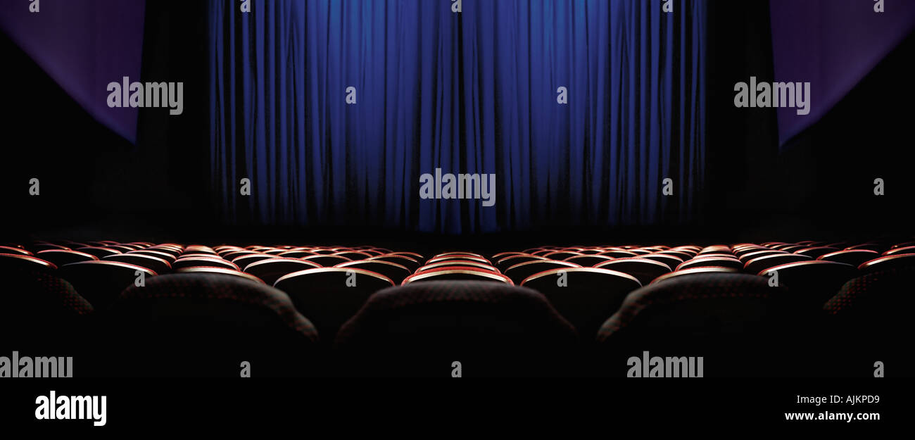 Empty cinema - Stock Image