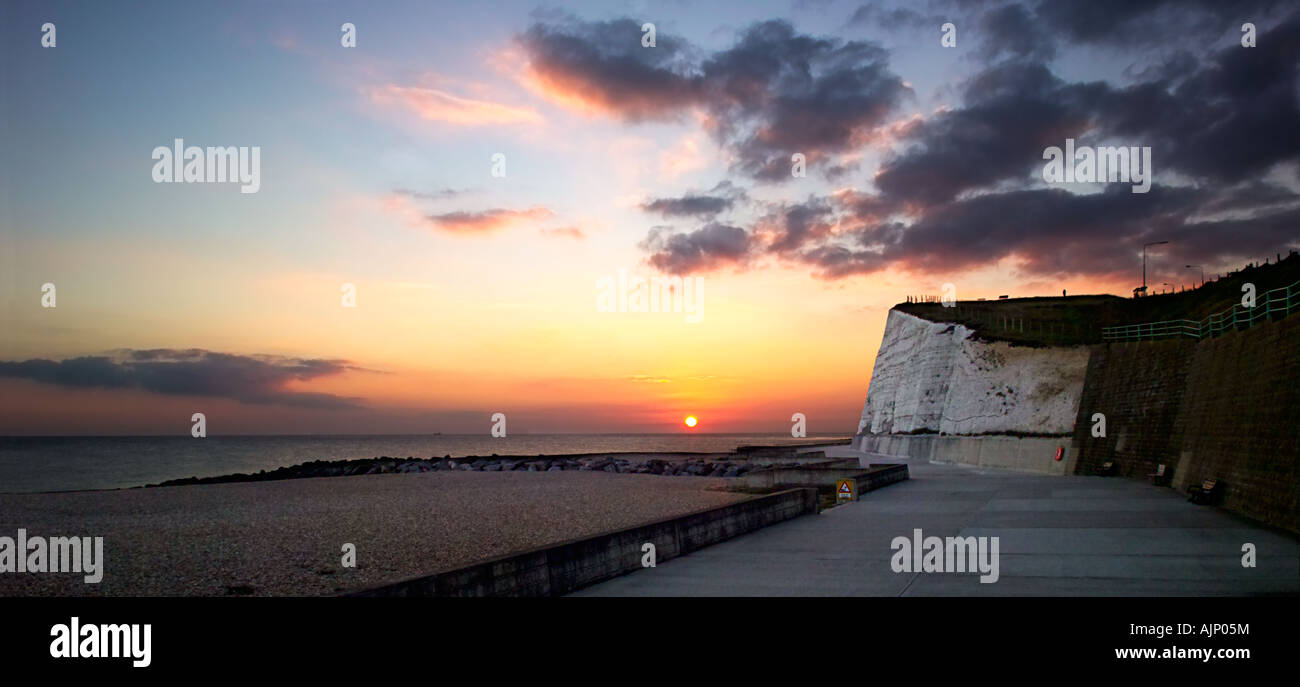 Summer sunset at Saltdean, East Sussex, Engalnd, UK Stock Photo