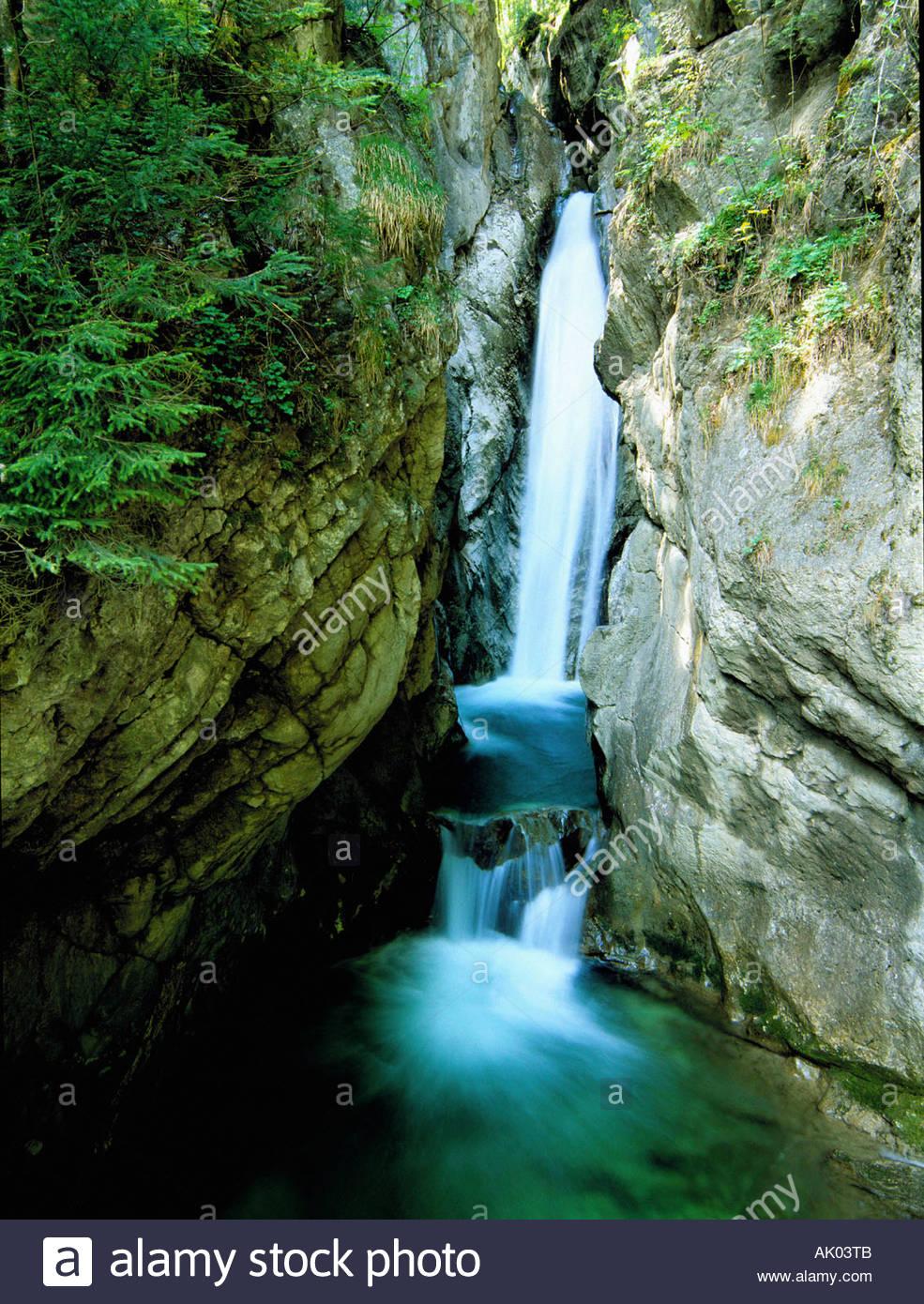Waterfall / Tatzelwurm / Wasserfall - Stock Image