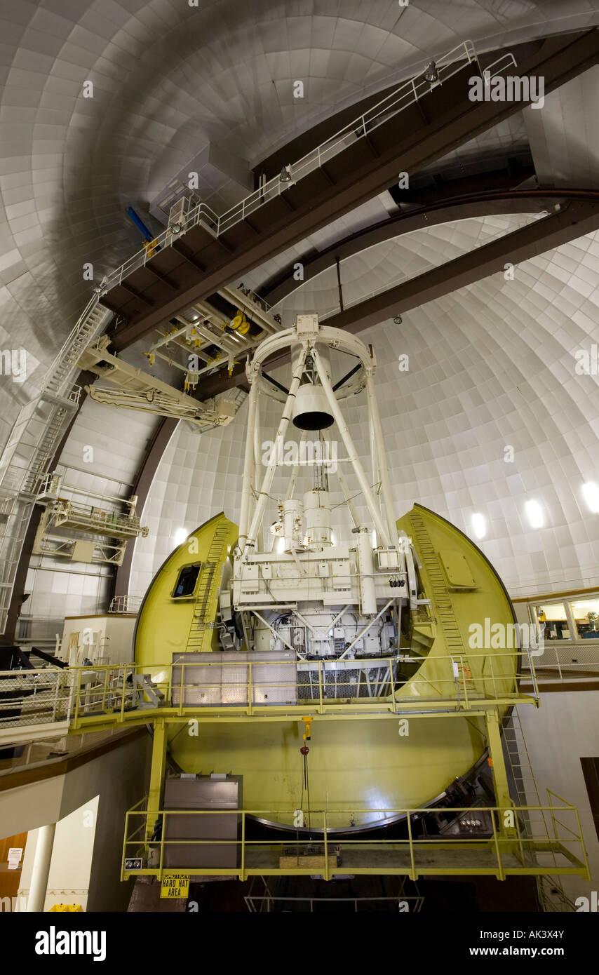 Anglo Australian Telescope AAT at Siding Spring Observatory Mt Woorut near Coonabarabran in north west NSW Australia Stock Photo