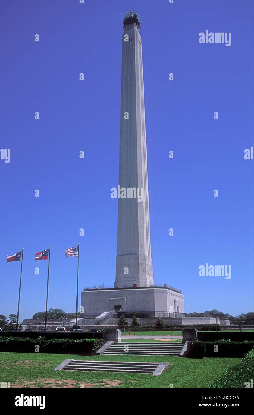 San Jacinto Monument at The Battleground State Historic Park near Houston Texas - Stock Image