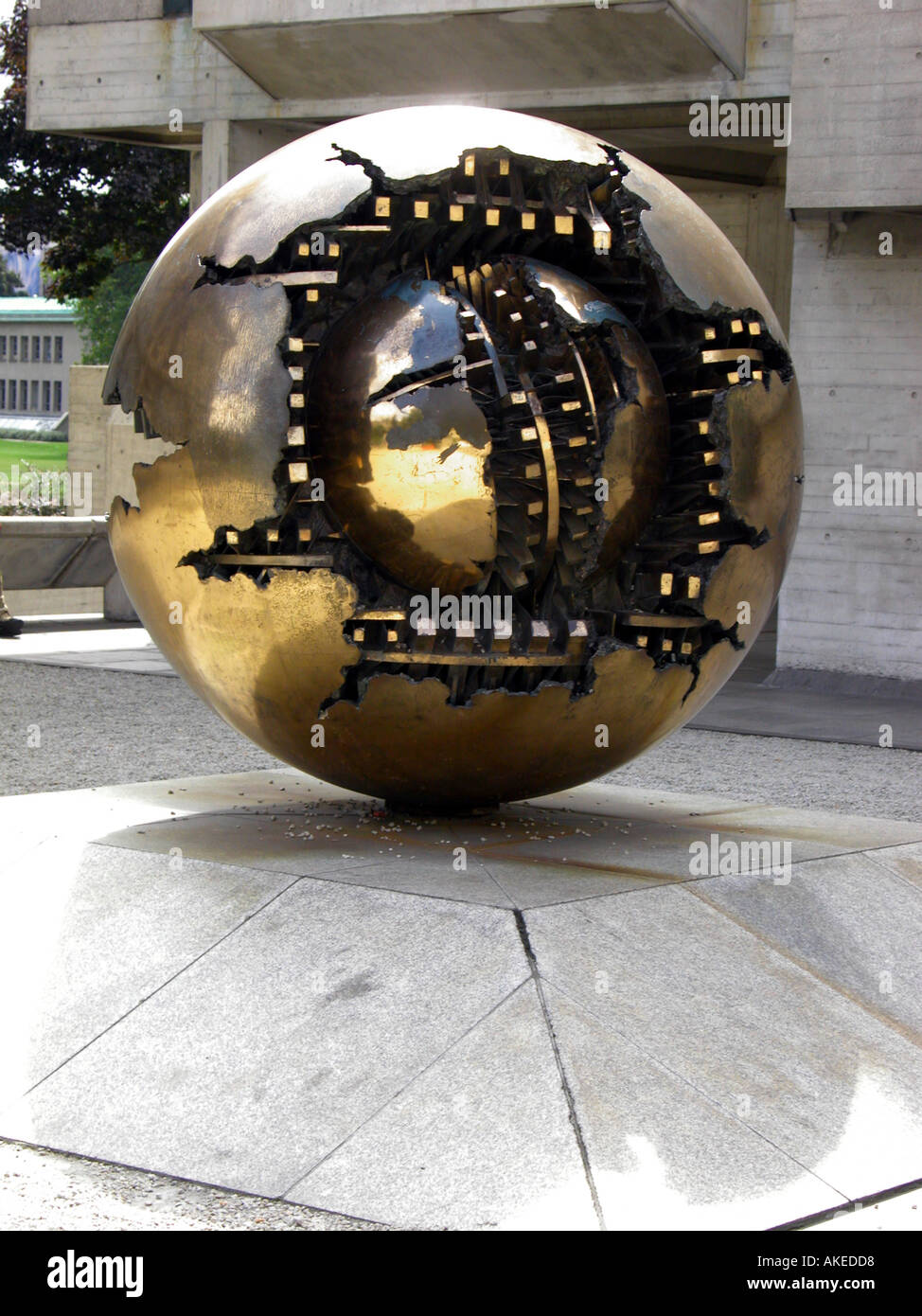 Copy of Sfera Conserva conservation Sphere sculpture Trinity College Dublin Republic of Ireland the original is - Stock Image