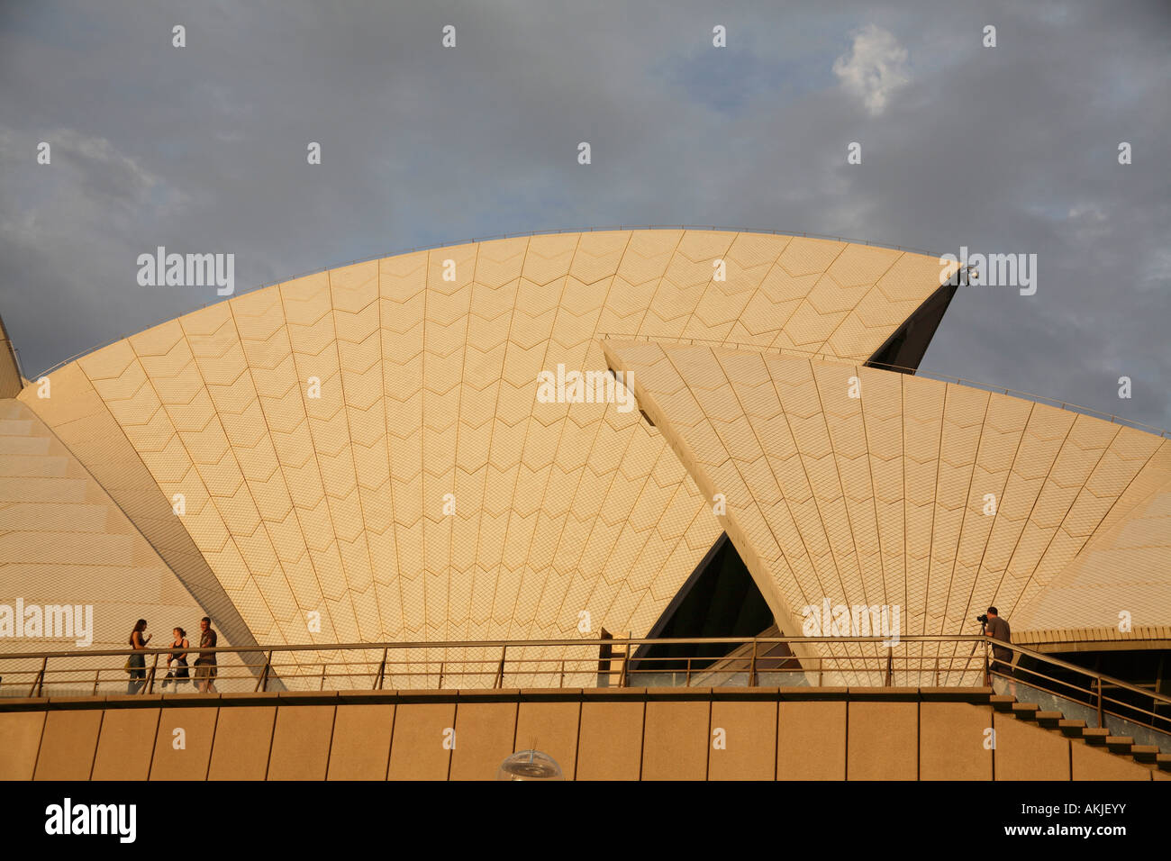 Small section of the ceramic tiles on the roof of the Sydney Opera ...