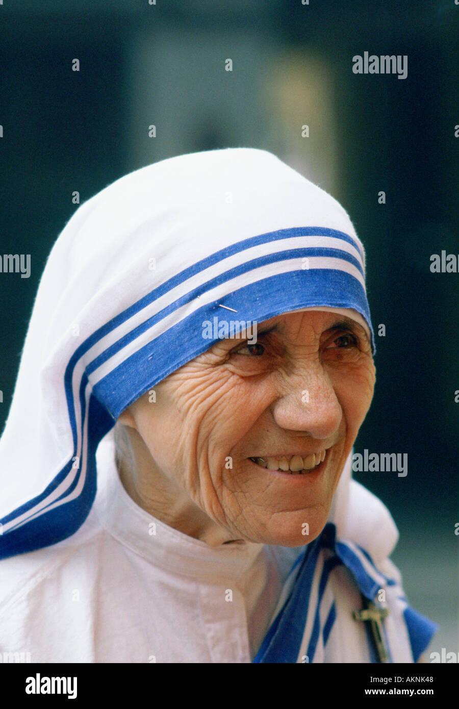 Mother Teresa of Calcutta India Stock Photo