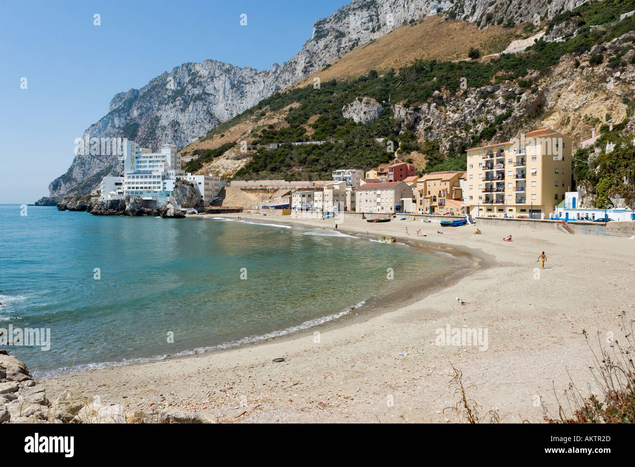 Caleta Beach, Gibraltar Stock Photo