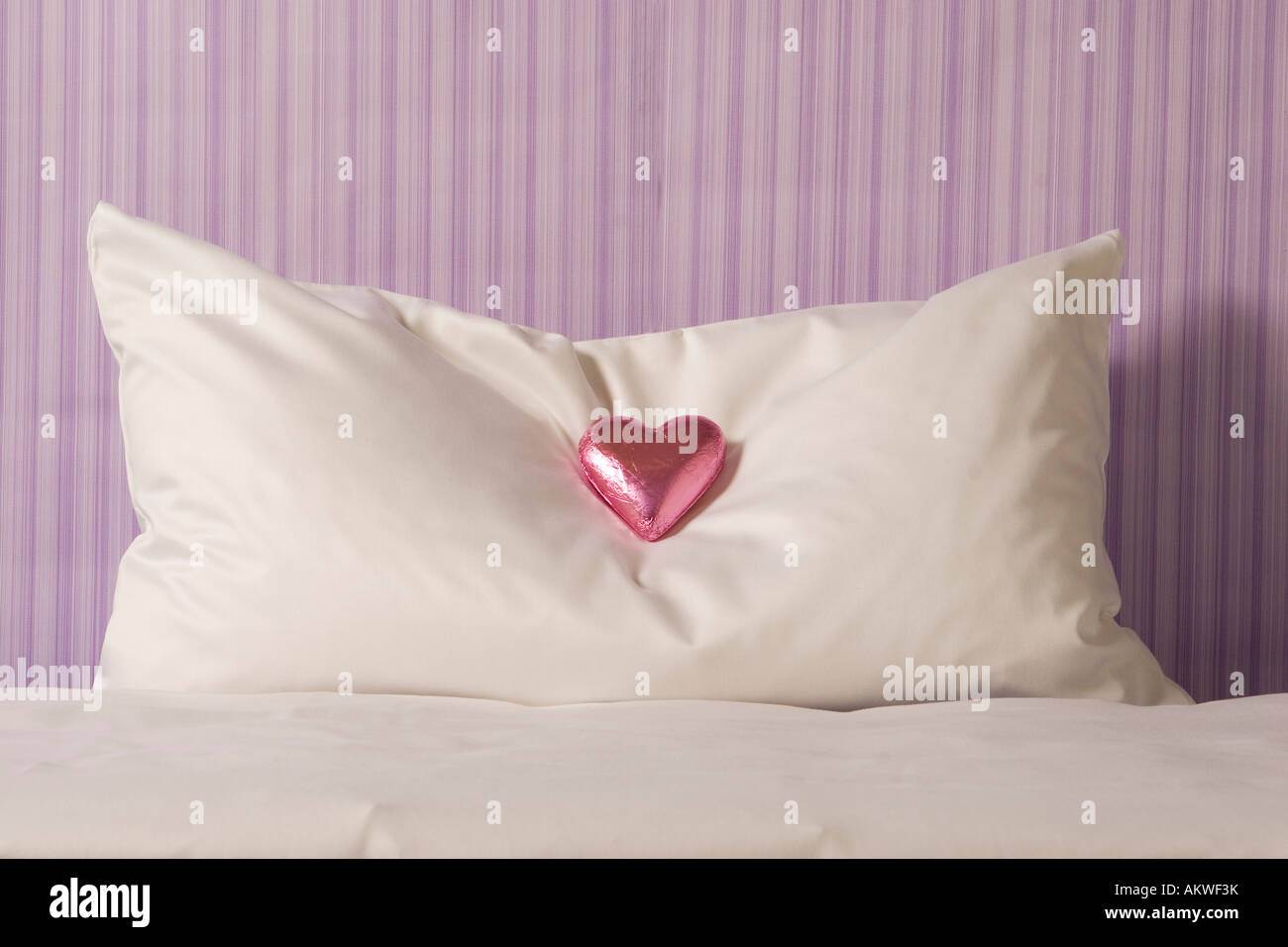 chocolate on hotel room pillow close up stock photo 15079830 alamy