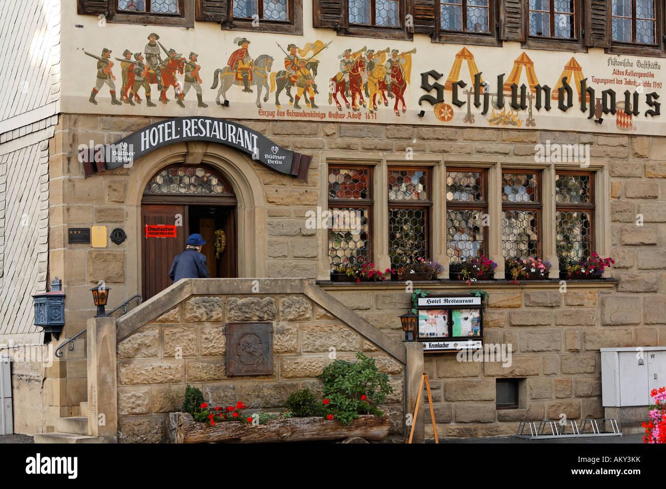 Delightful Hotel Restaurant Schlundhaus, Bad Koenigshofen, Rhoen Grabfeld, Franconia,  Bavaria, Germany