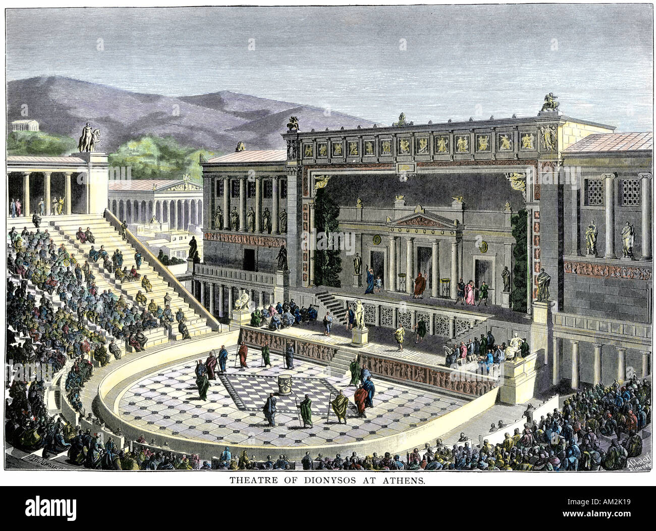 Performance at the Theatre of Dionysos in Athens ancient ... Ancient Athenians