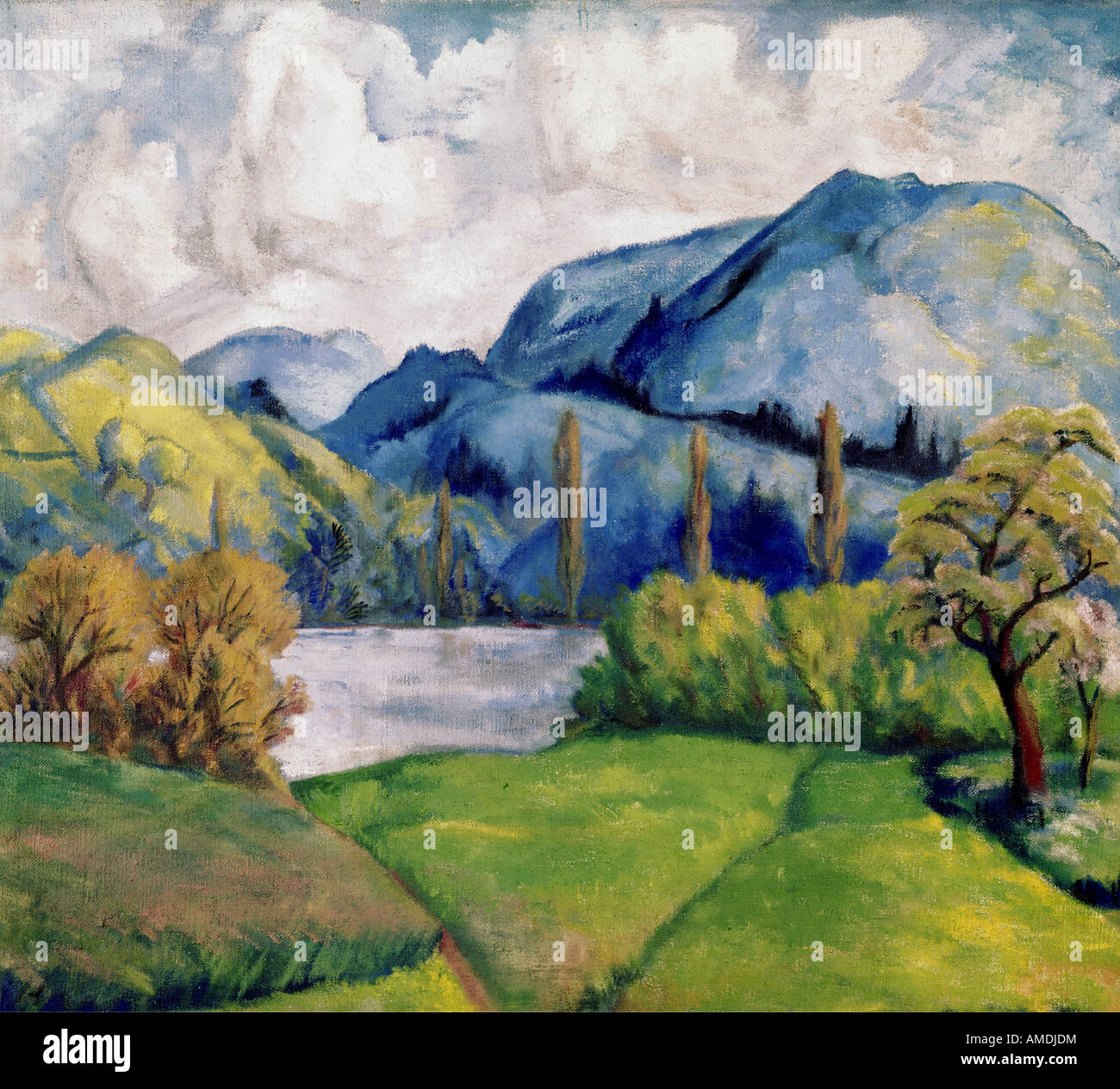 fine arts, Cezanne, Paul, (1839 - 1906), painting, Kunsthaus Zürich, French, impressionsm, nature, tree, trees, Stock Photo