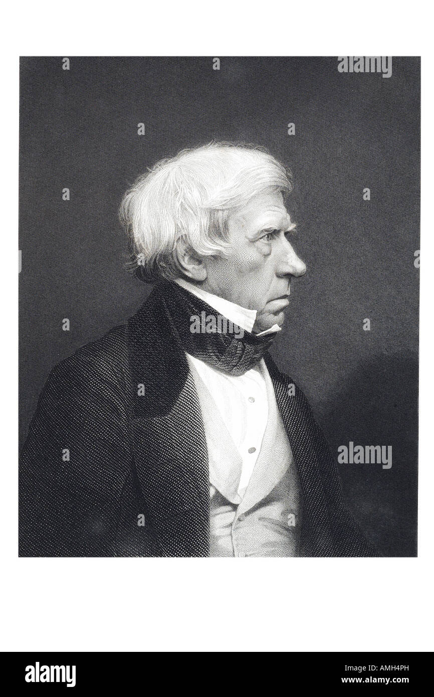 Lord Brougham Right Honourable Henry 1st Baron Vaux 1778 1868 Lord High Chancellor Great Britain British statesman - Stock Image