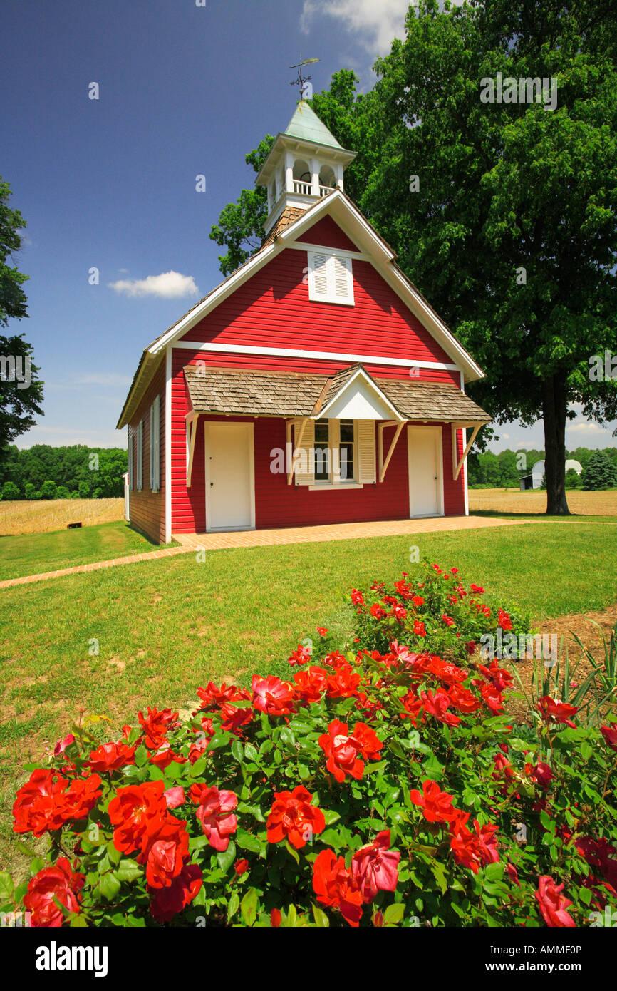 Little Red (Historic) Schoolhouse, Easton, Maryland, USA Stock Photo