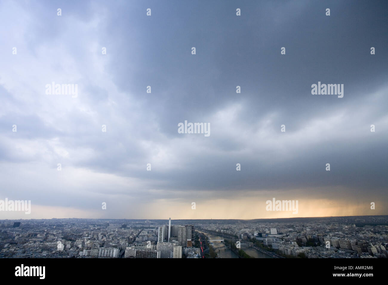 View from the Eiffel Tower Paris - Stock Image
