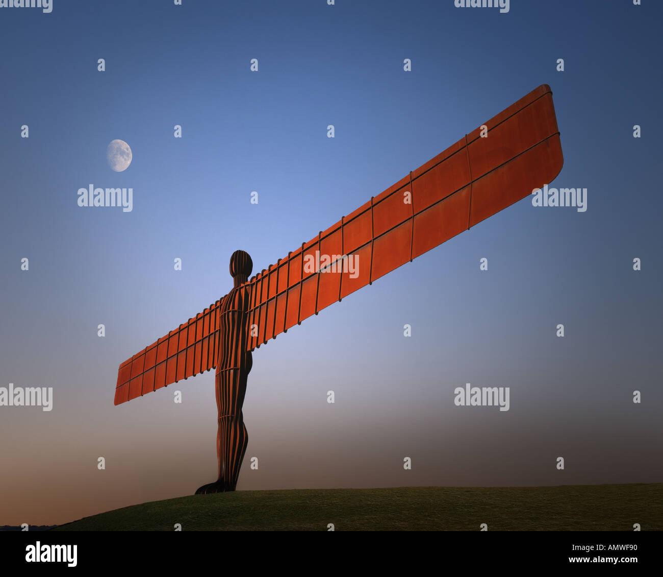 GB - TYNE AND WEAR: Angel of the North near Gateshead - Stock Image