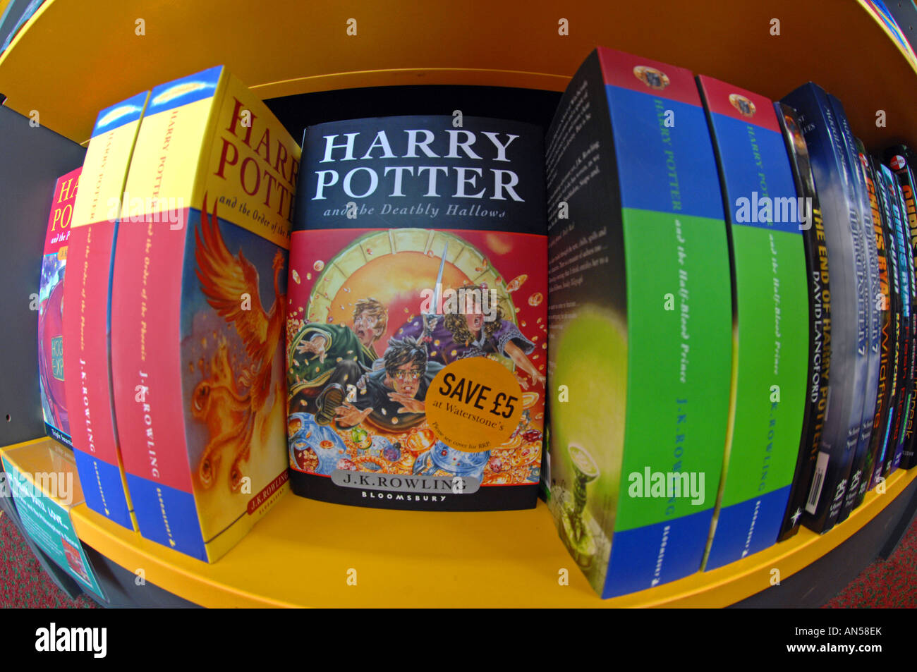 Harry Potter books - Stock Image