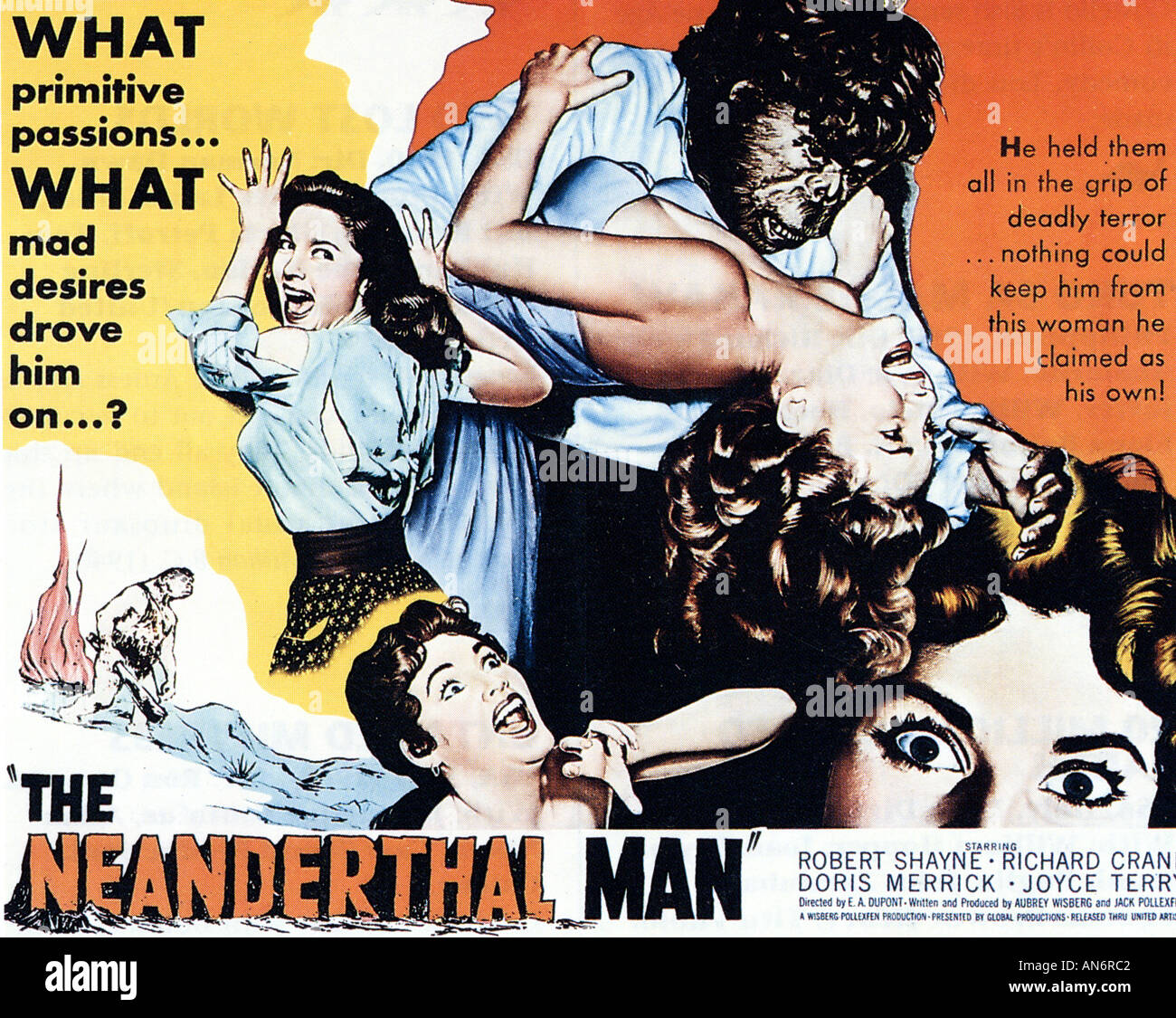 NEANDERTHAL MAN Poster for 1953 film Stock Photo