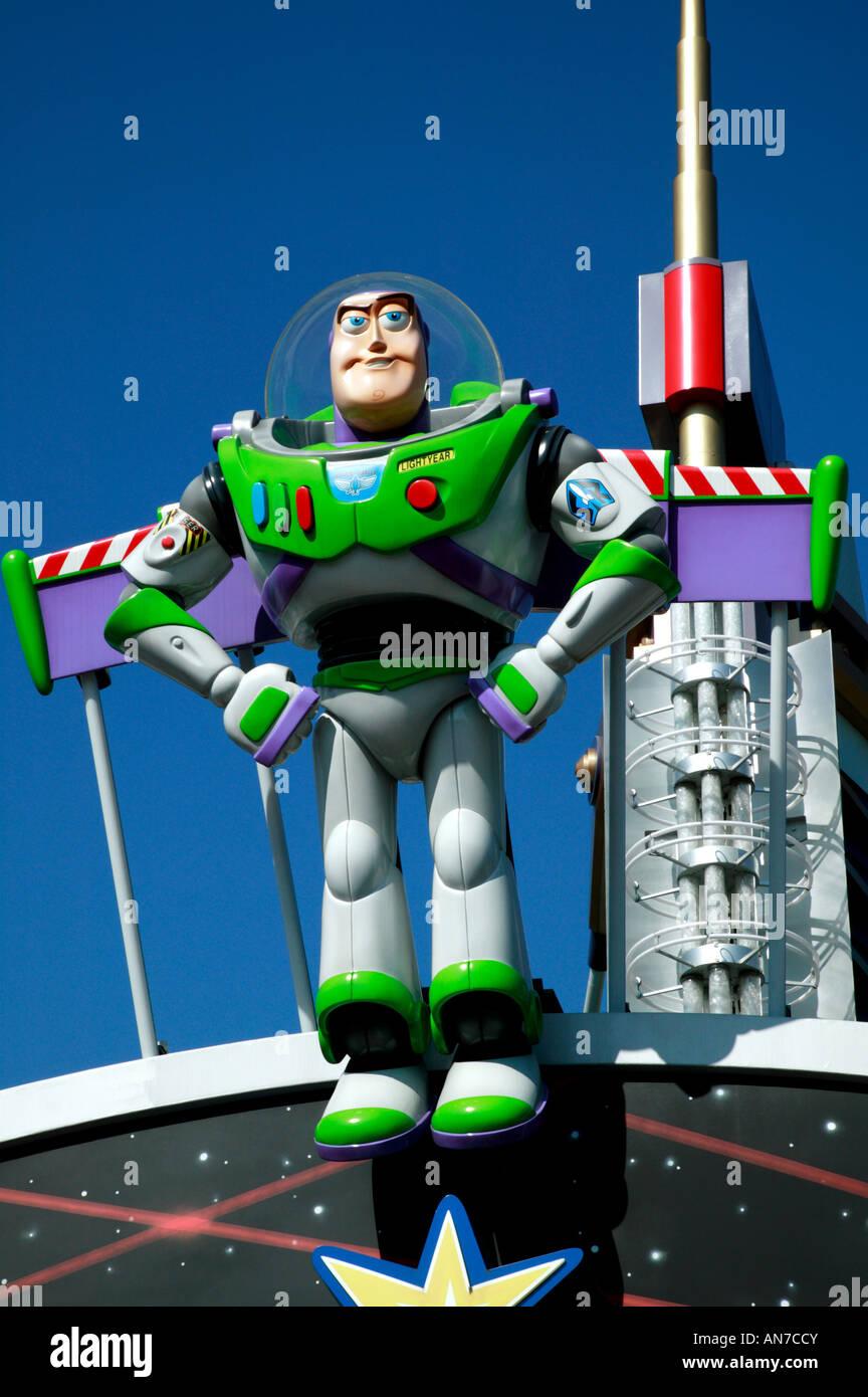 Close-up shot of  Buzz Lightyear at Tomorrowland, Disneyland, Paris - Stock Image