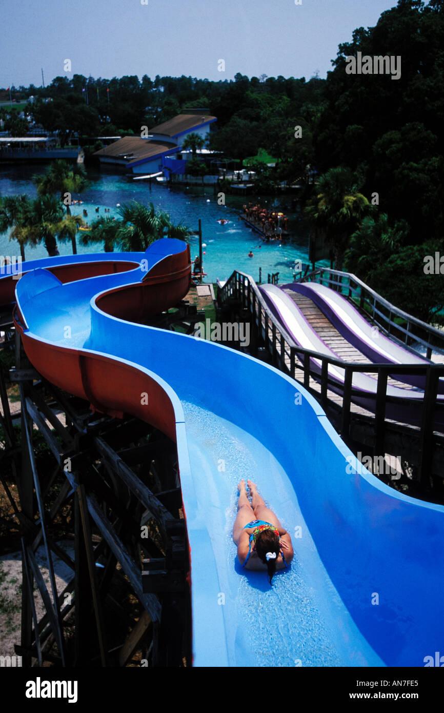 Florida, Weeki Wachee Springs, Weeki Wachee Springs, Buccaneer Bay water park Stock Photo