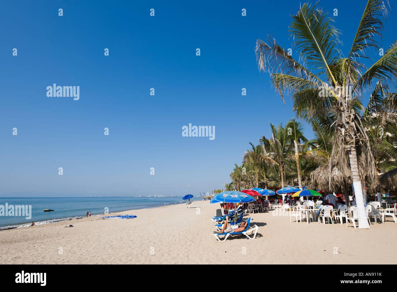 Playa Los Muertos aka Playa del Sol, Puerto Vallarta, Jalisco, Mexico - Stock Image