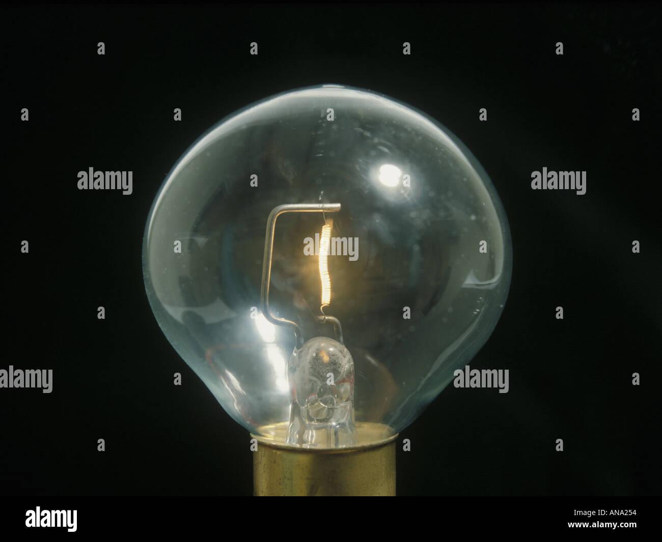 12 volt tungsten filament lamp - Stock Image