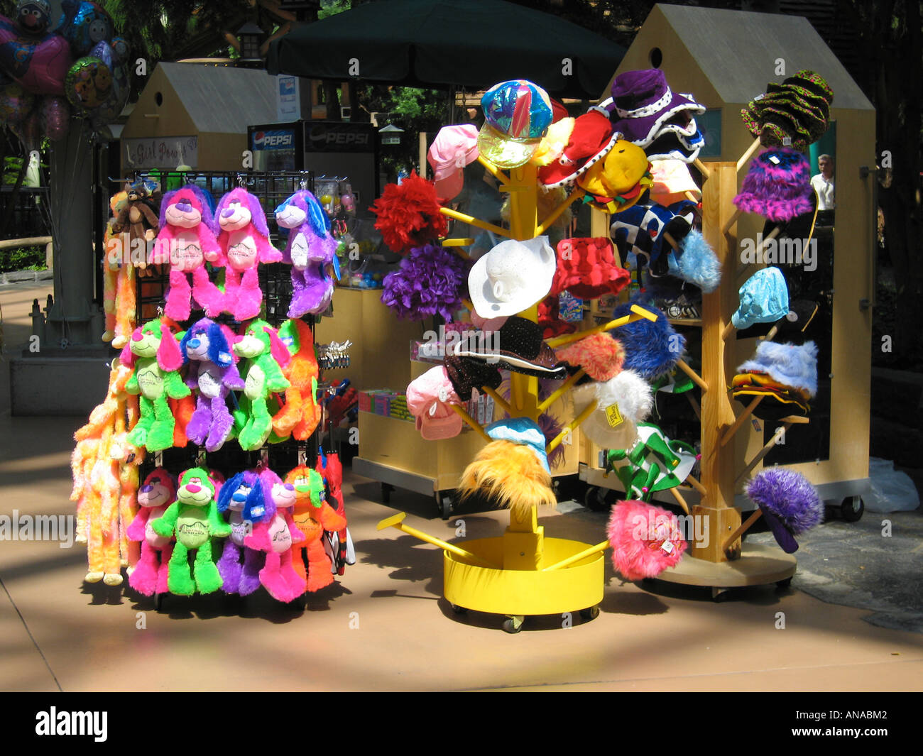 Colorful Market Stall Selling Hats and Cuddly Toys in Mall of America  Minneapolis St Paul USA ee05862f6d8