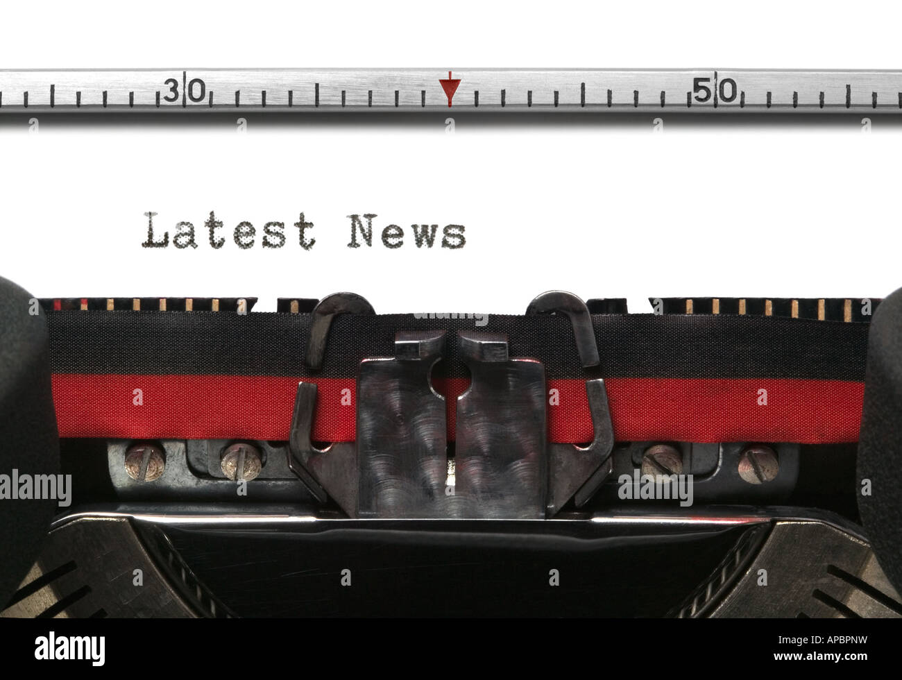 Latest News typedr on an old typewriter - Stock Image
