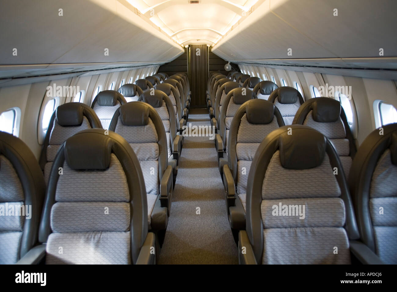 Nice The Interior Of Restored Concorde At Brooklands Aviation Museum, UK   Stock  Image