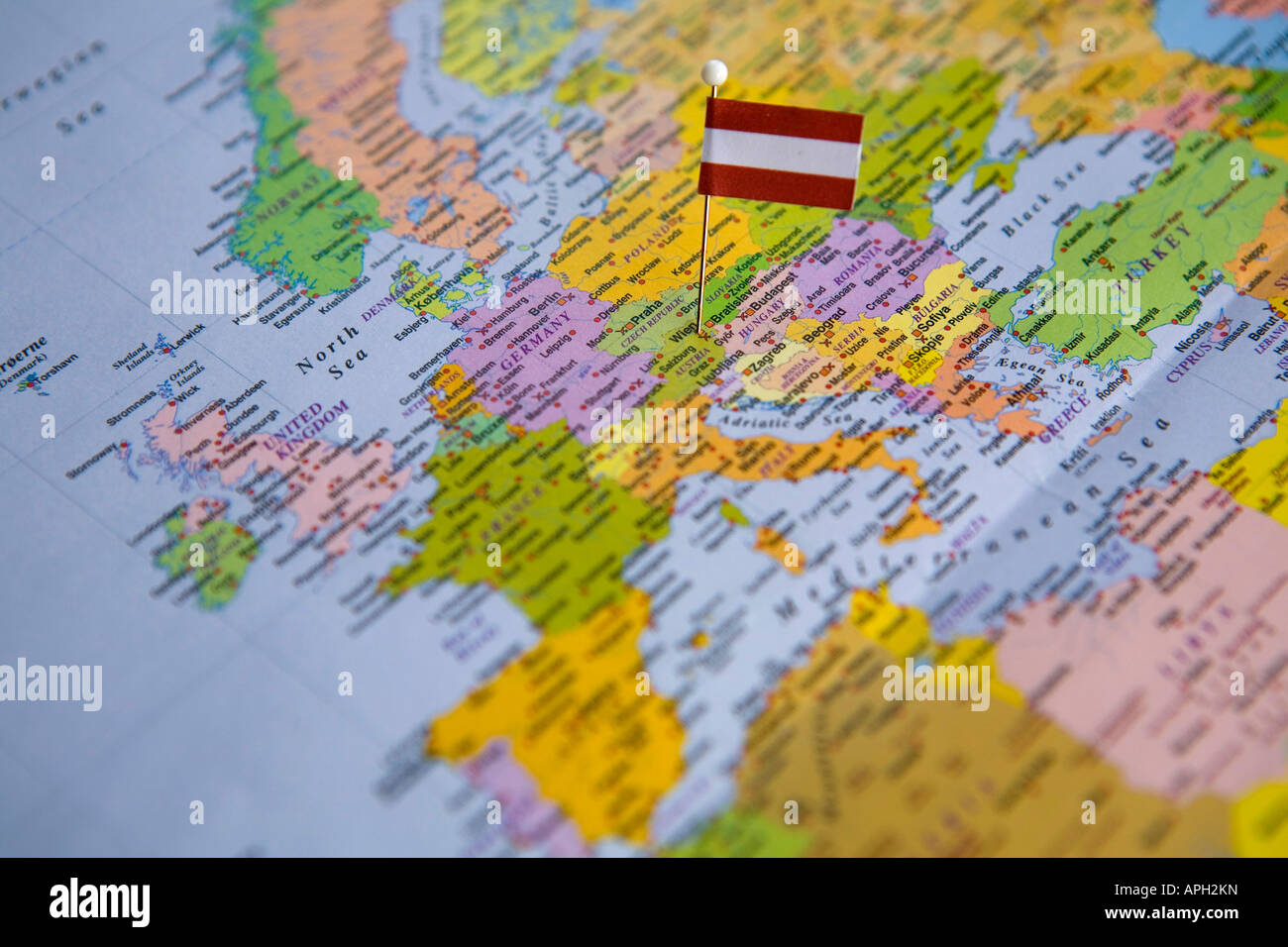 Flag pin placed on world map in the capital of austria vienna stock flag pin placed on world map in the capital of austria vienna gumiabroncs Gallery