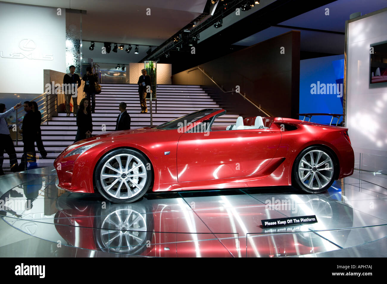 Lexus LF-A Roadster sports car concept at the 2008 North American ...