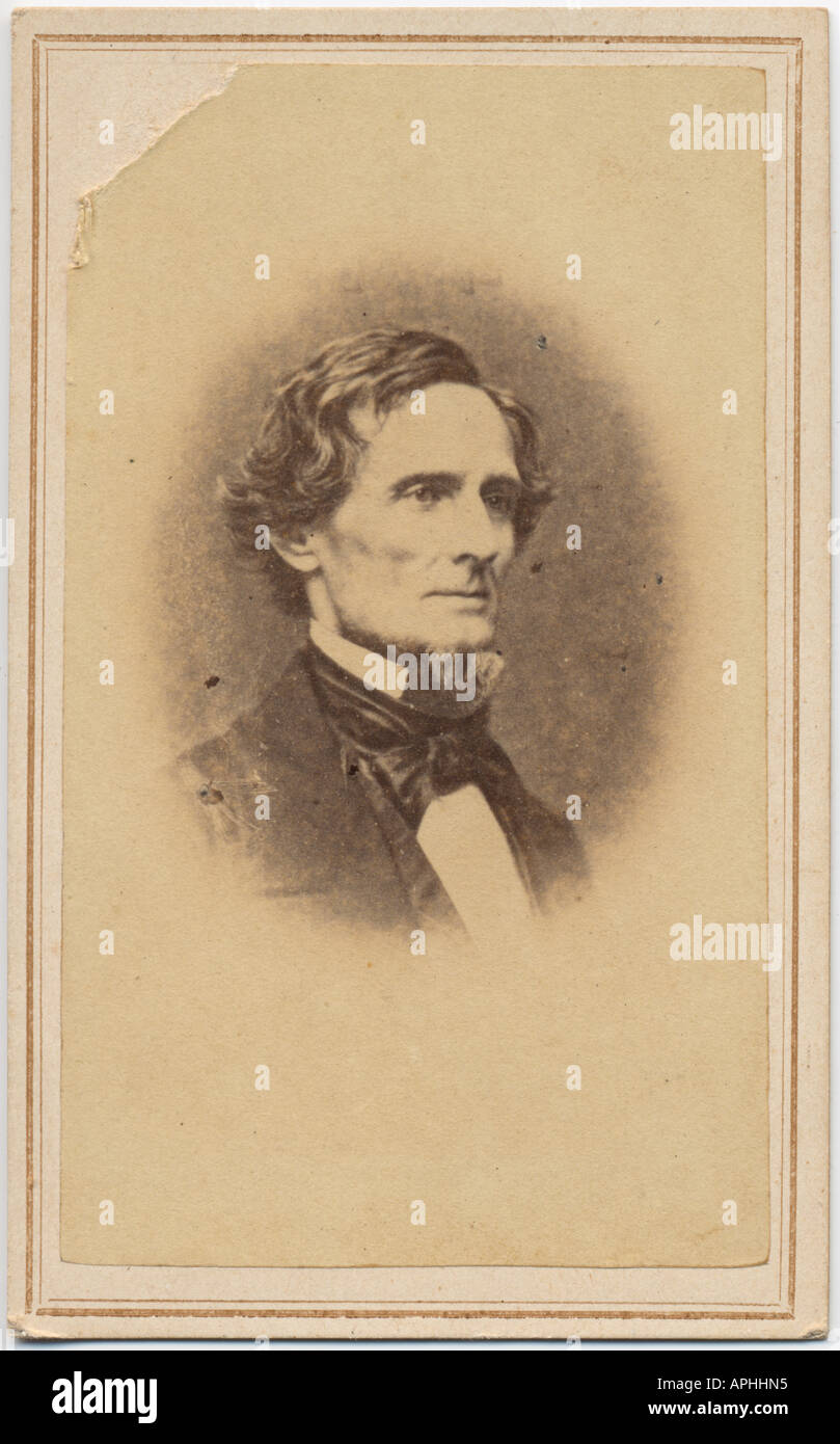 Carte De Visite Of CSA President Jefferson Davis