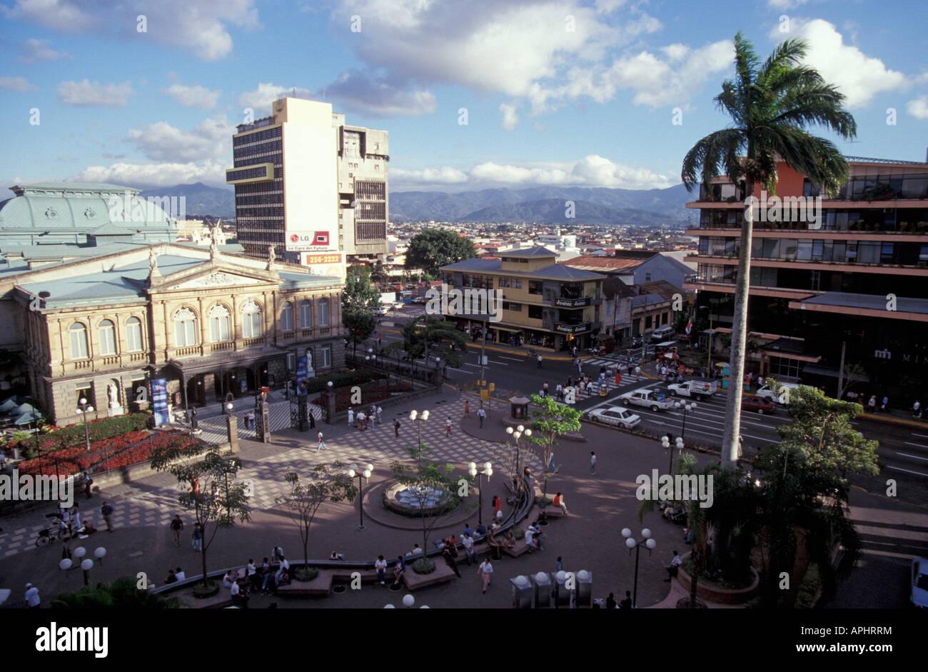 The Plaza de la Cultura in downtown San José, Costa Rica Stock Photo
