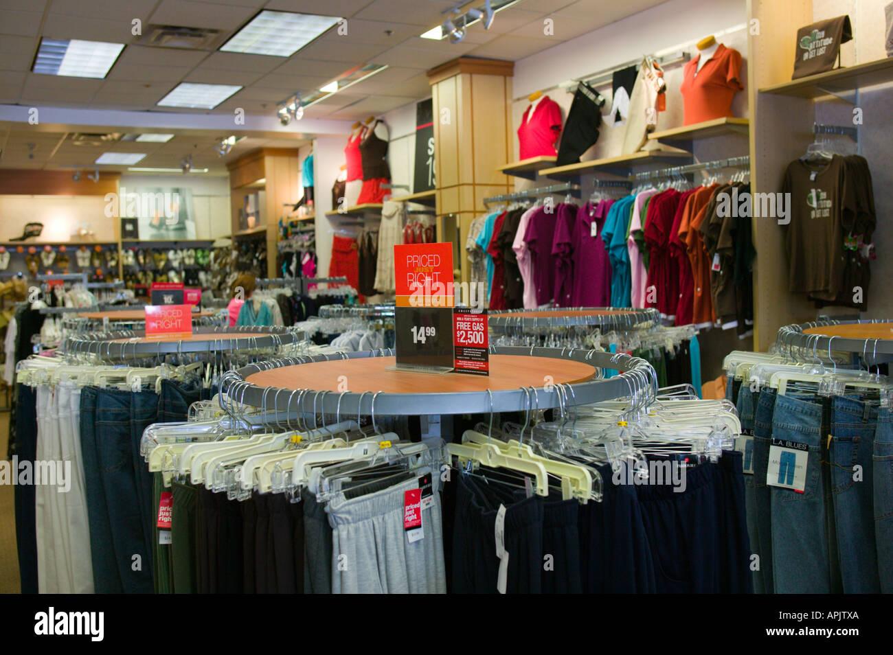 cf8e18dd9930 Interior of Women s Retail Clothing Store Stock Photo: 9032873 - Alamy