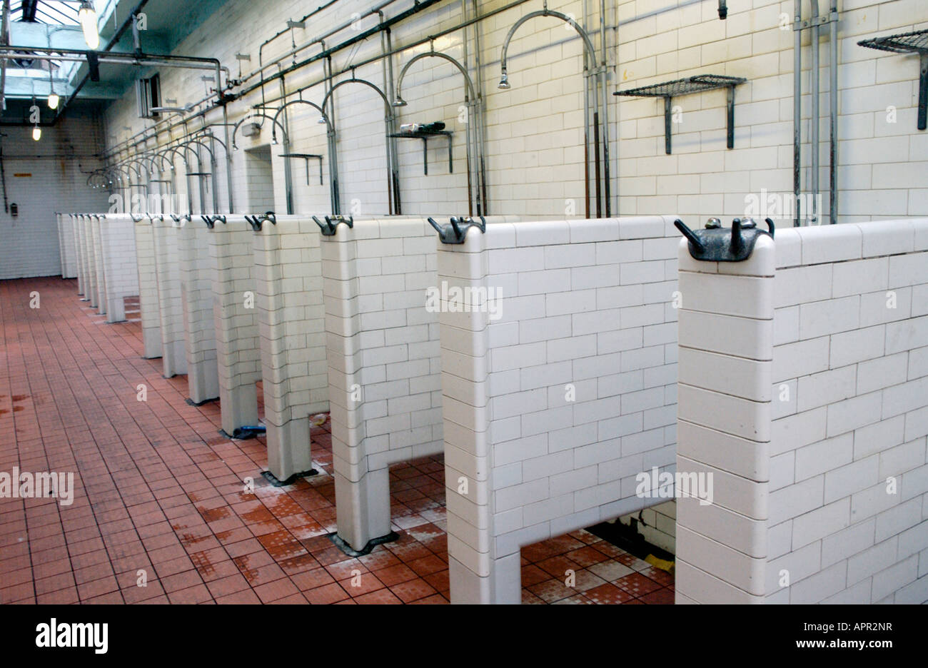 Empty pit head baths at Tower Colliery Hirwaun South Wales UK EU on the day the pit closed Stock Photo