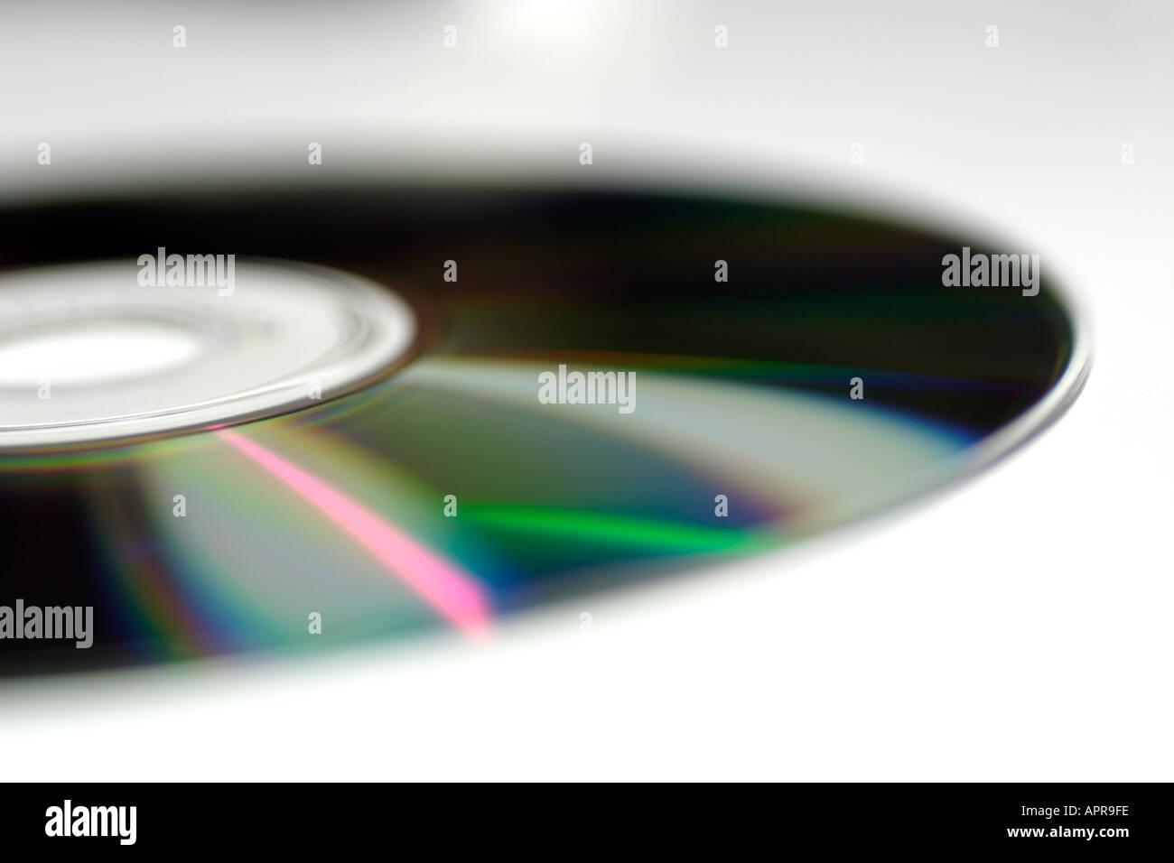 media storage dvd cd cd rom burn rip r r rw disc disk future tech technology movie music mp3 mp4 medium communication Stock Photo
