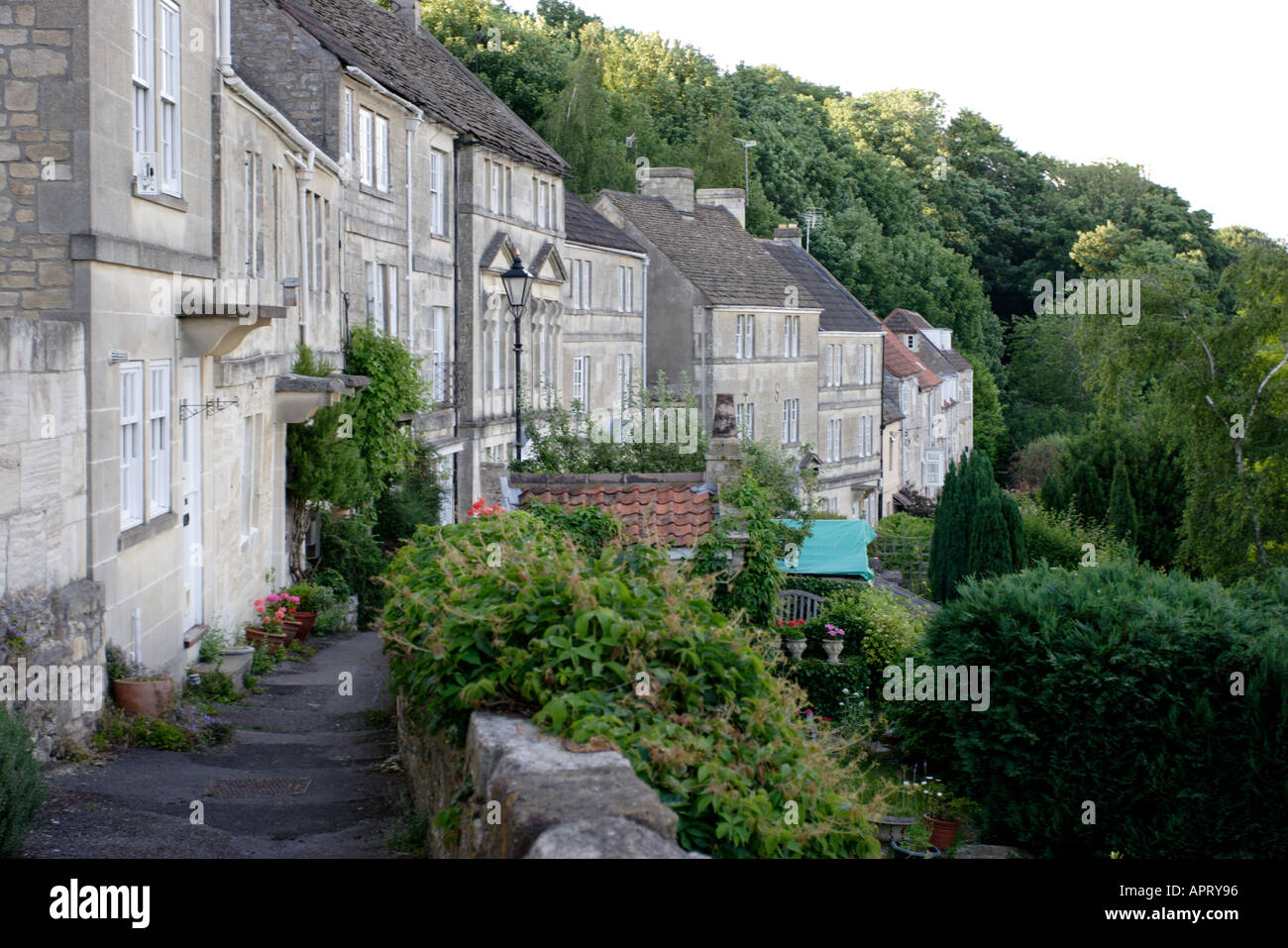 Cottages in Tory and Middle Rank Bradford on Avon Stock Photo ...