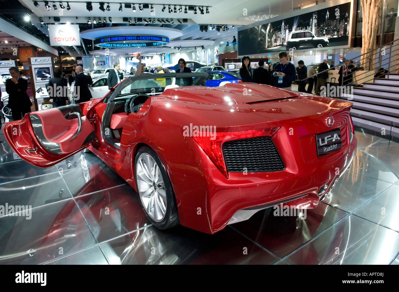 Lexus LF-A Roadster concept car at the 2008 North American Stock ...