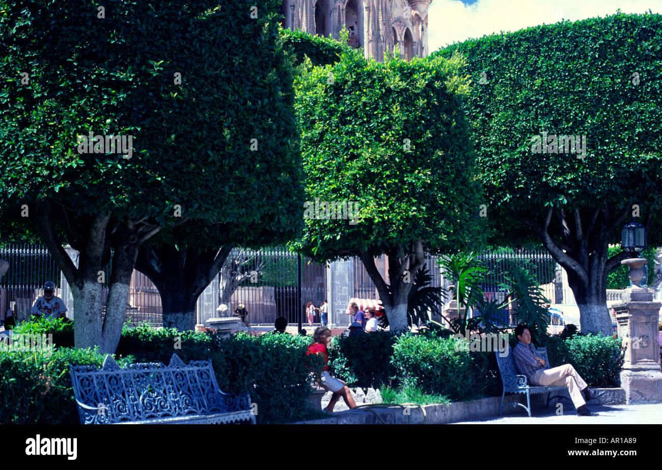 Jardin San Miguel de Allende Mexico - Stock Image