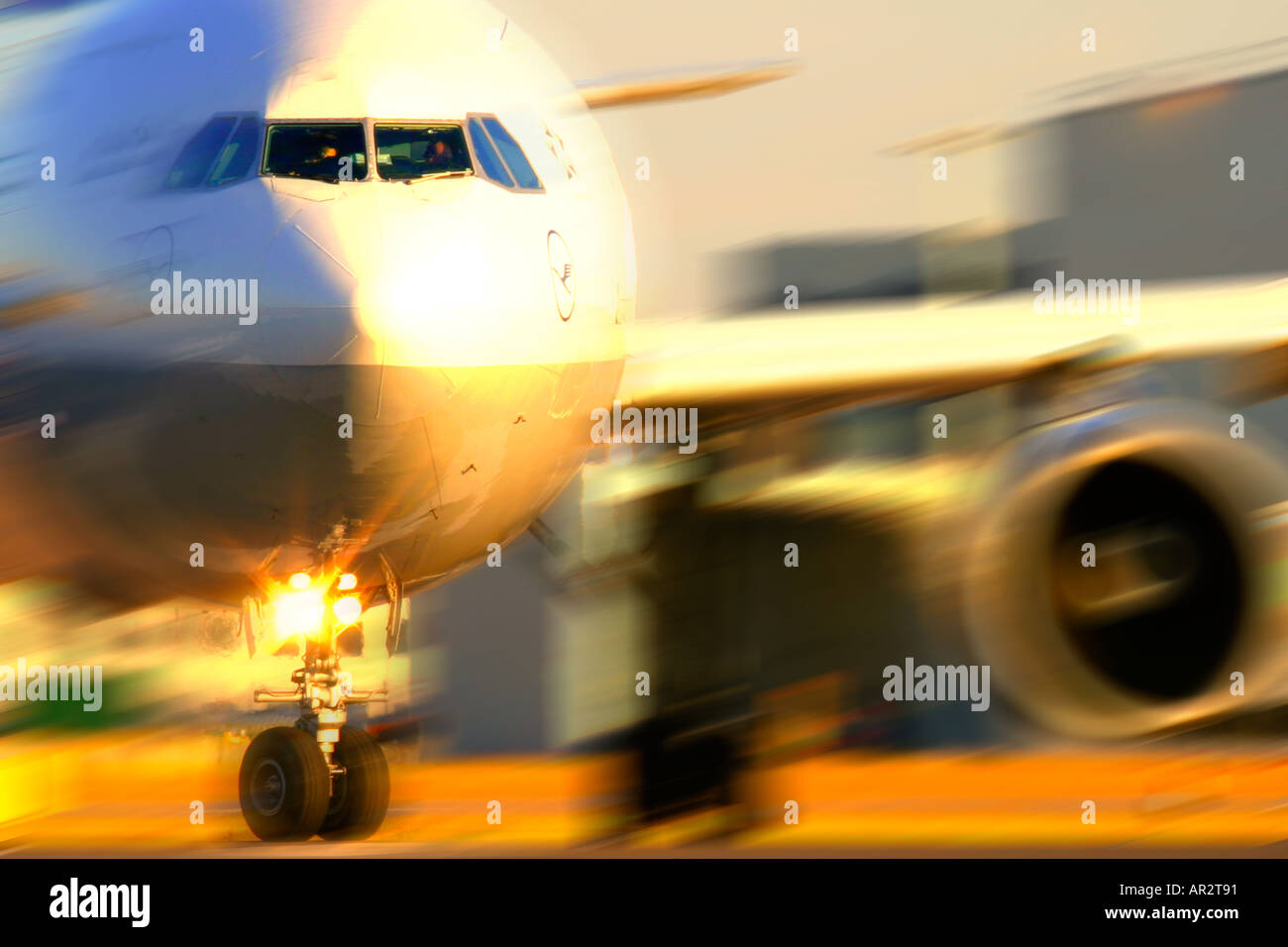 Commercial jet close up - Stock Image