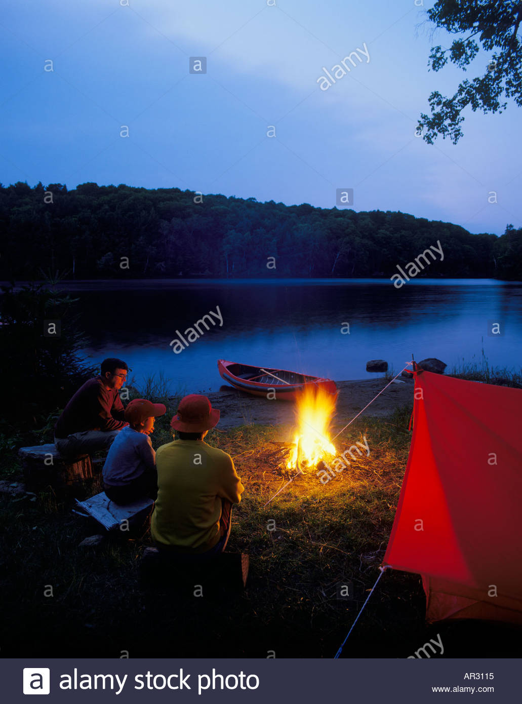family-camping-on-long-lake-near-halibur