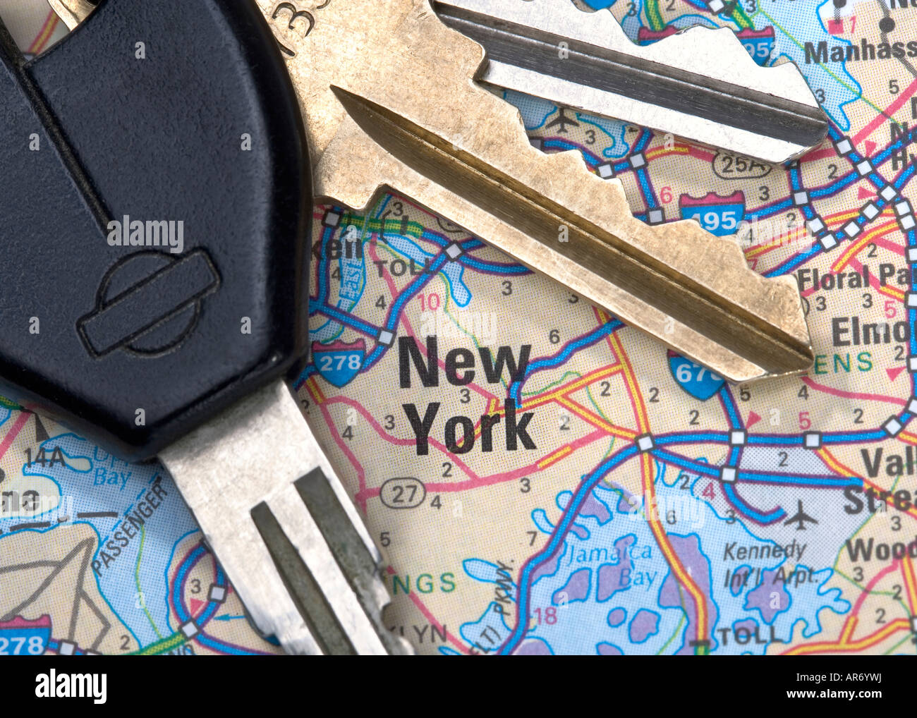 New York City On Map Close Up