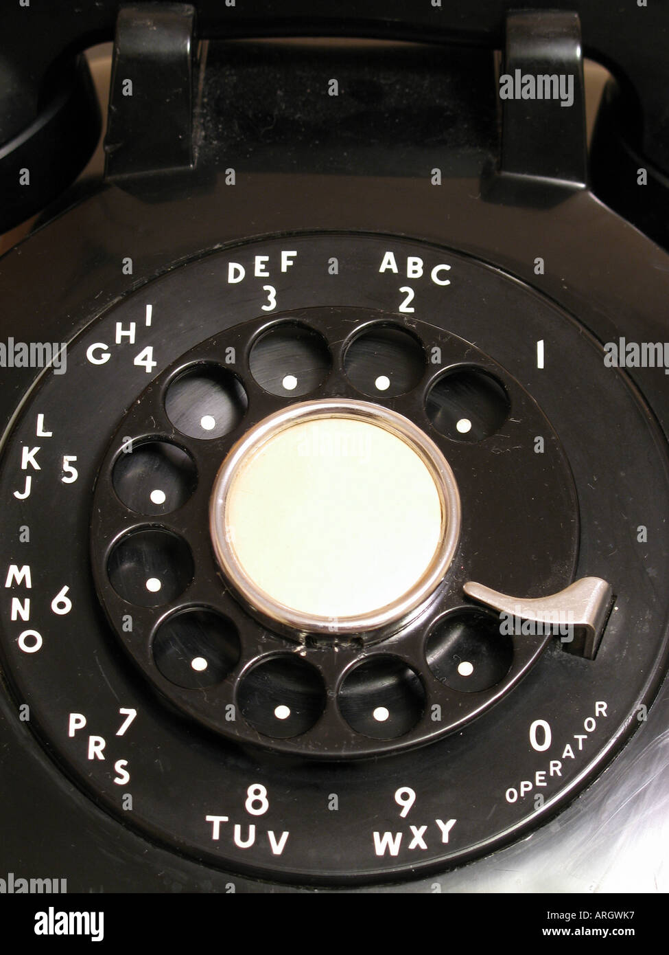 rotary phone dial - Stock Image