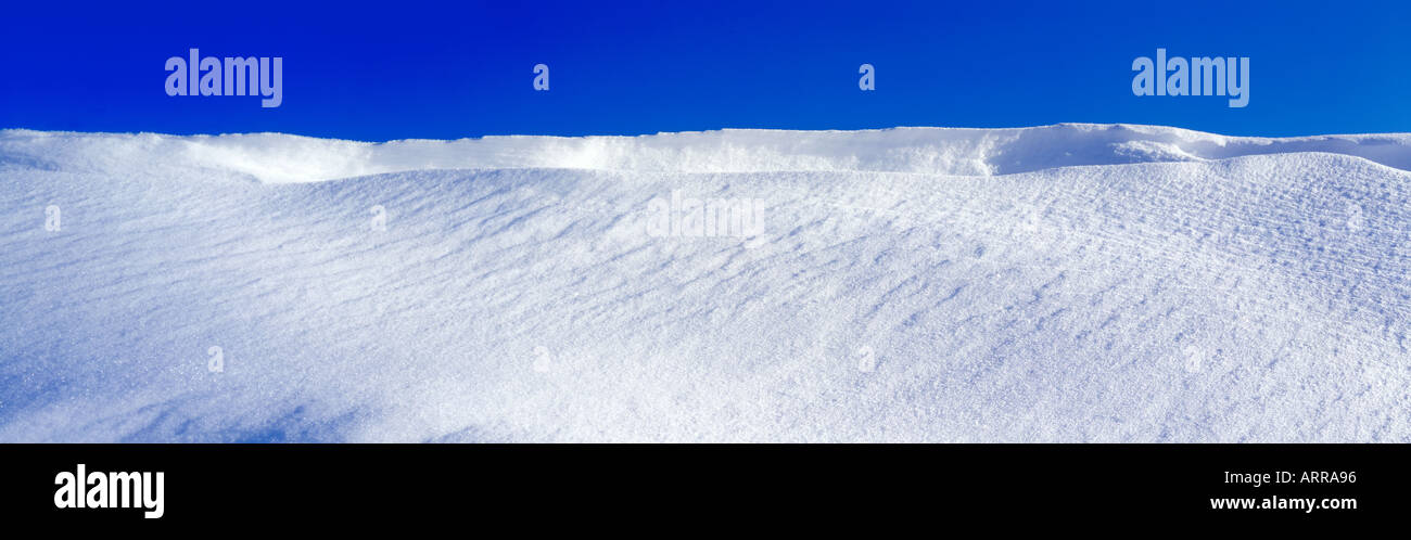 landscape with snow and blue sky. Photo by Willy Matheisl - Stock Image