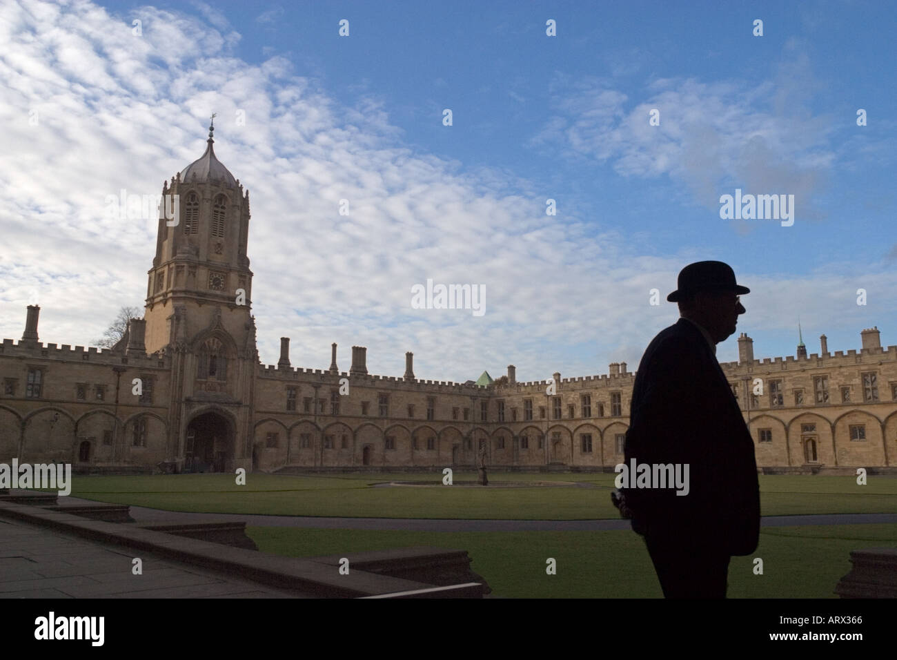 Courtyard of Christ Church College at Oxford University - Stock Image