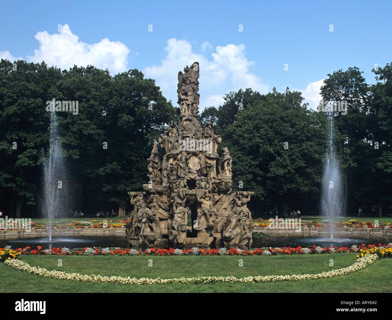 Charming Europa Europe Germany Deutschland Bayern Bavaria Erlangen Hugenottenbrunnen  Huguenot Fountain